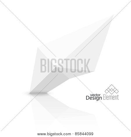 Abstract polygonal geometric shape.