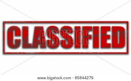 Classified Rubber Stamp Text