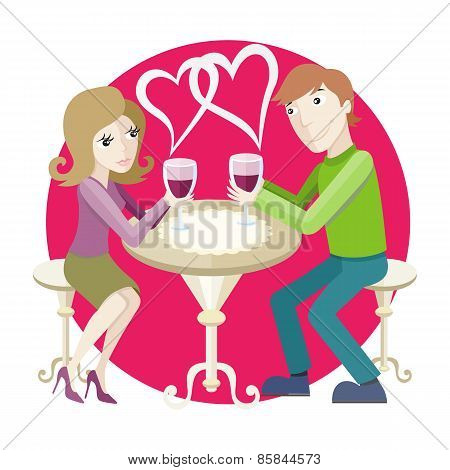 Date at restaurant