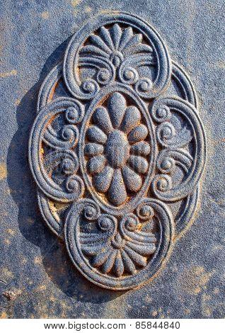 Grey Wrought Iron Detail