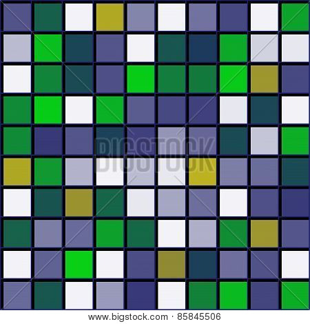 Abstract Pattern Squares With Black Grille