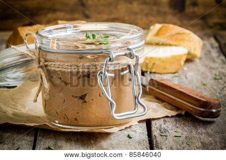 Homemade Chicken Liver Pate In The Jar