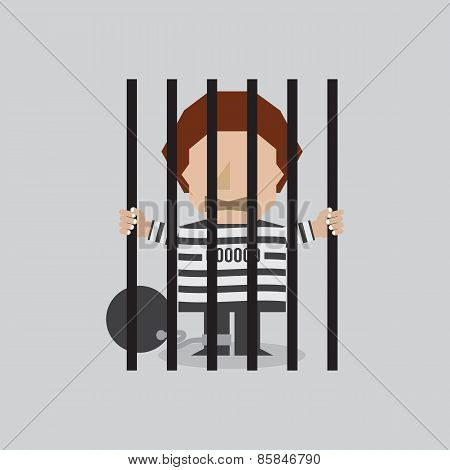 Prisoner In Jail.