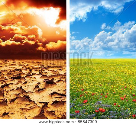 climate concept - global warming