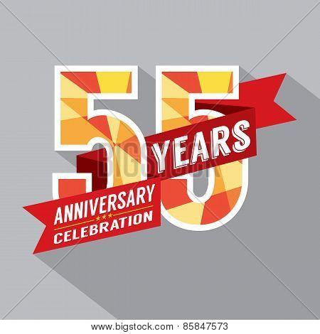 55Th Years Anniversary Celebration Design.