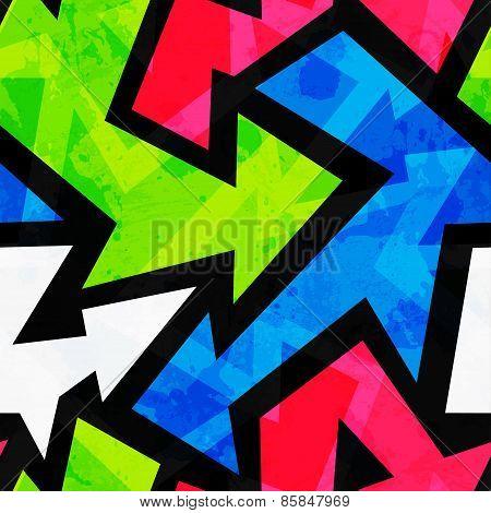 Urban Bright Geometric Seamless Pattern