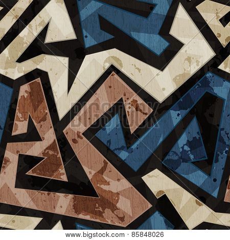 Urban Graffiti Seamless Texture With Grunge Effect