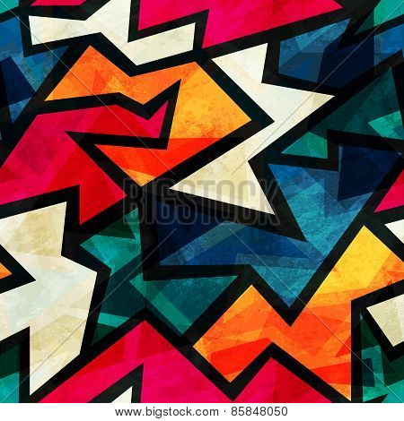 Urban Grunge Geometric Seamless Pattern