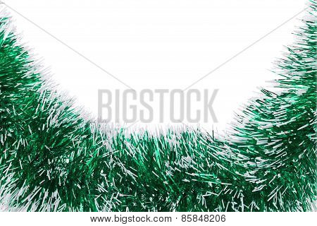Christmas green tinsel