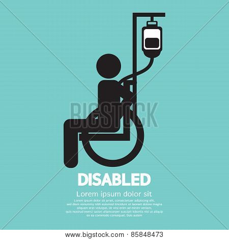 Disabled Sickness Sign.