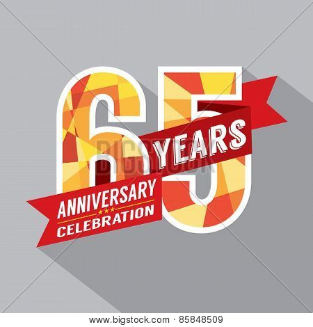 65Th Years Anniversary Celebration Design.