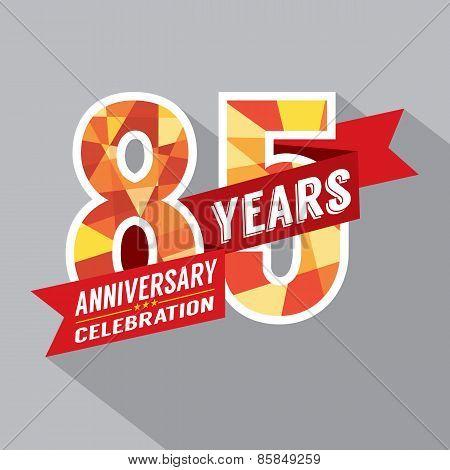 85Th Years Anniversary Celebration Design.