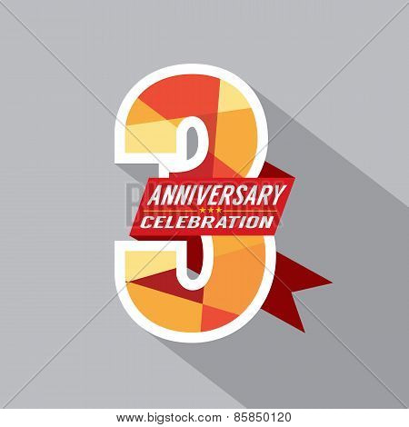 3Rd Years Anniversary Celebration Design.