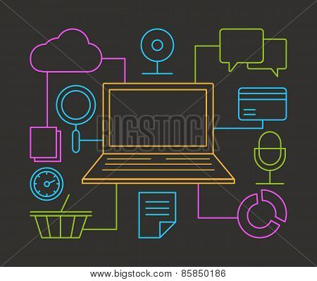Linear Concept Of Media Service