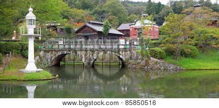 Nagoya, Japan - September 14: Meiji-mura open air architectural museum preserves historic buildings between 1867-1989  On September 14, 2014 Nagoya, Japan.