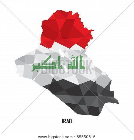 Map Of Iraq.