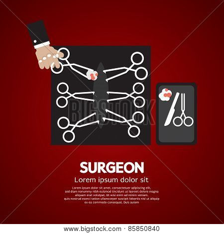 Surgeon's Incision Scissors.