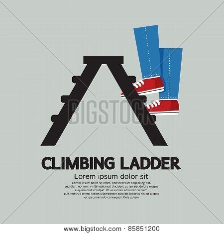 Legs Climbing Ladder.