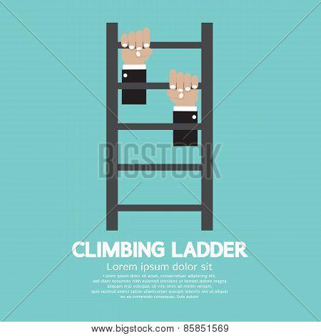 Hands Climbing Ladder.