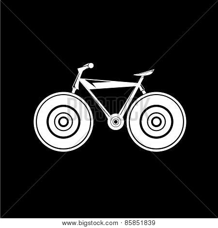 bicycle bike silhouette vector icon or logo
