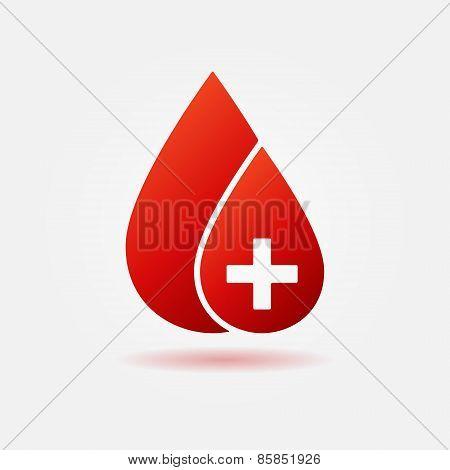 Blood drop vector concept logo or icon