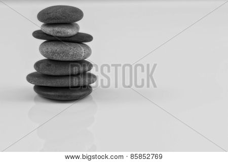 Sea stones laid in piles