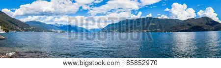 Panorama View Of Lake Maggiore