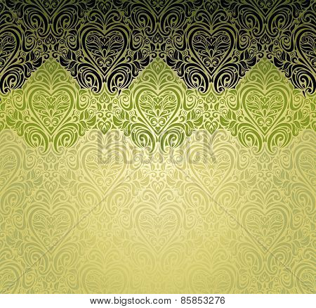 Green fashionable vintage background design