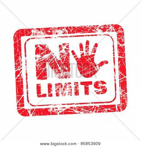 No Limit Grunge Rubber Stamp