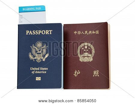 Passports From Usa And China