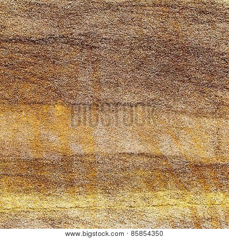 Abstract Background Concrete Painted Yellow Paint, Weathered With Cracks And Scratches. Landscape St