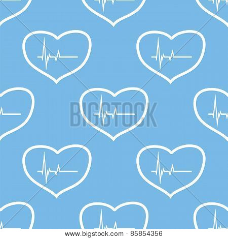 Heartbeat seamless pattern