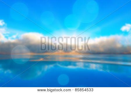 Tranquil Ocean Sunset Blurred