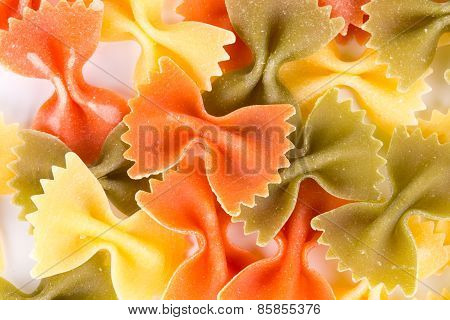 Bunch of the farfalle pasta