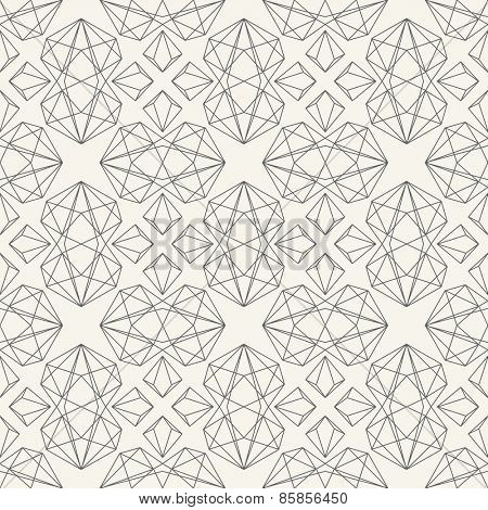 Geometric vector seamless pattern