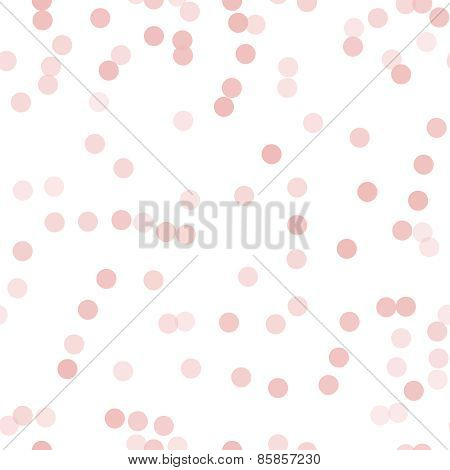 Simple and cute pink circles seamless pattern