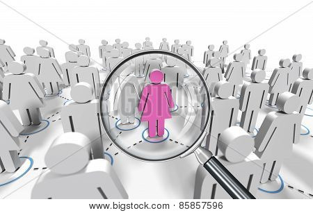 female job search