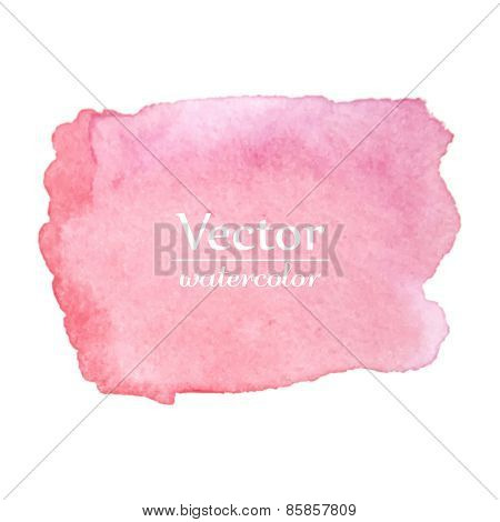 Bright pink spot. Abstract stylish watercolor background