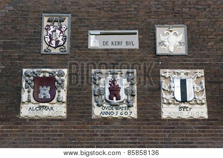 Gable Stones Are Carved And Often Colourfully Painted Stone Tablets, Which Are Set Into The Walls Of