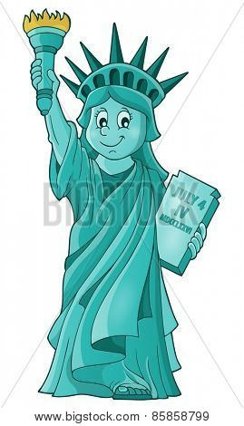Statue of Liberty theme image 1 - eps10 vector illustration.