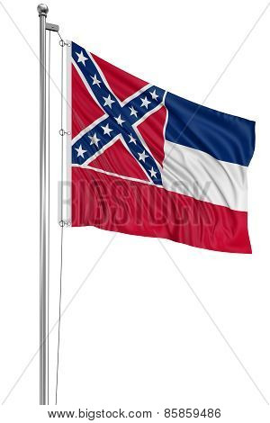 3D Mississippi Flag