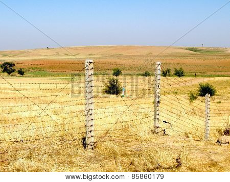 Mayskiy Border Between Uzbekistan And Kazakhstan 2007