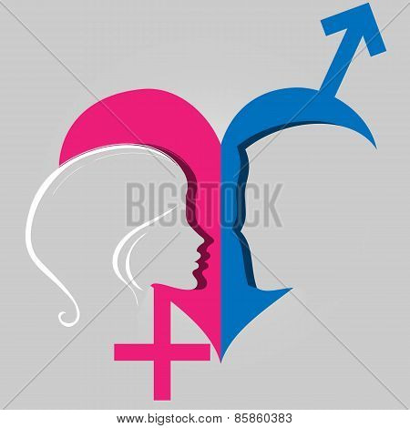 Male Female Gender Heart