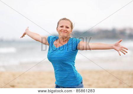 Woman enjoying freedom