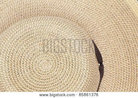 Background Texture Of A Straw Sunhat