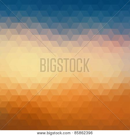 Colorful geometric background with triangles