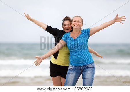 Two happy women