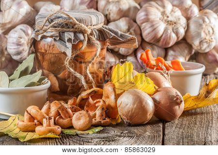 Marinated Mushrooms.