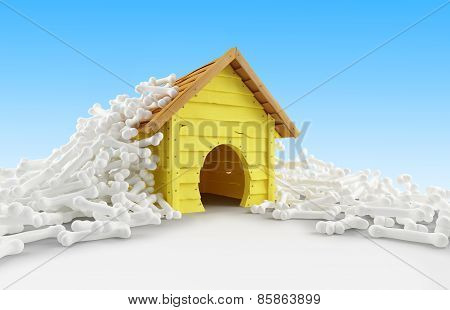 Dog House Many Bones