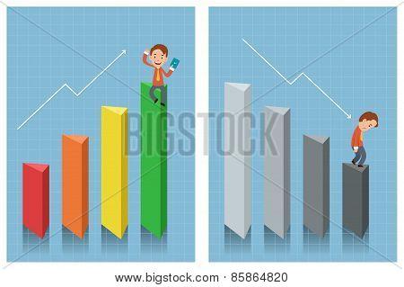 Businessman Looking At Chart